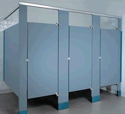 Solid Plastic Toilet Partitions www.lockersnmore.com #toilet #stalls