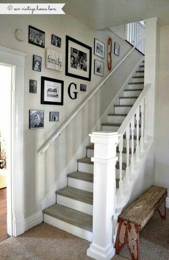 Stairs white & wood