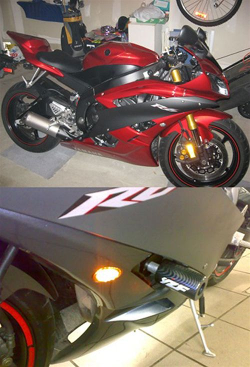 Mad Hornets - Front Indicators Flush Mount LED Turn Signals Yamaha YZF R1 (02-08), R6 (03-09), R6S (06-08), Smoke, $24.99 (http://www.madhornets.com/front-indicators-flush-mount-led-turn-signals-yamaha-yzf-r1-02-08-r6-03-09-r6s-06-08-smoke/)
