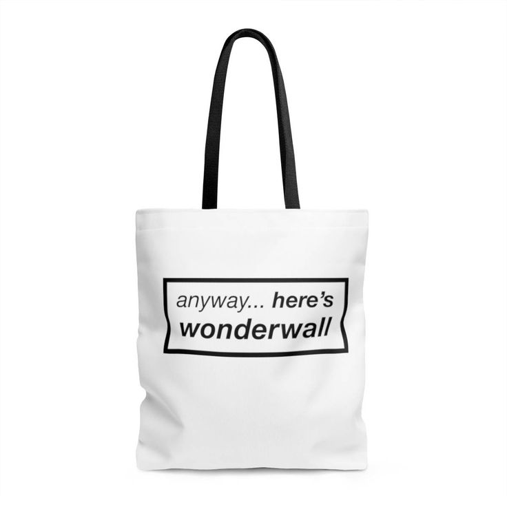Oasis Anyway Here's Wonderwall Tote Bag Liam Gallagher, Noel Gallagher, Band Shirt, Acoustic Guitar, Funny Shirt, Britpop