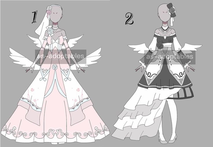 cute angel outfit adoptable batch CLOSED by AS-Adoptables