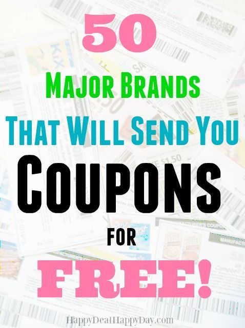 Looking to contact companies directly for coupons?  Here is an awesome list of where to get started!