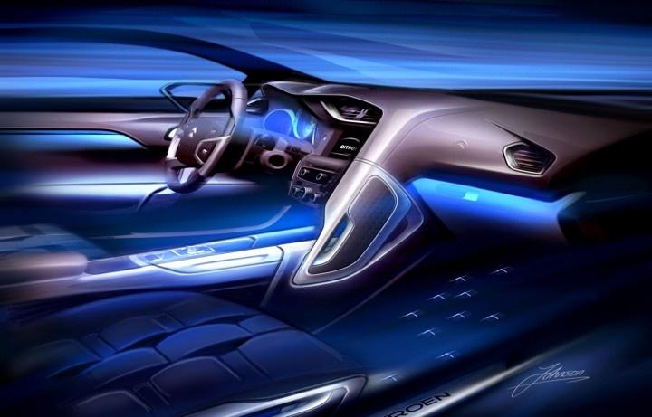 Futuristic Car Interior, ds4