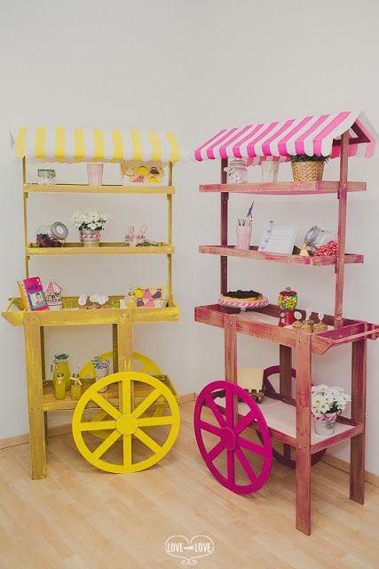 Decoración de Candy Bar para un cumpleaños de niña de princesas
