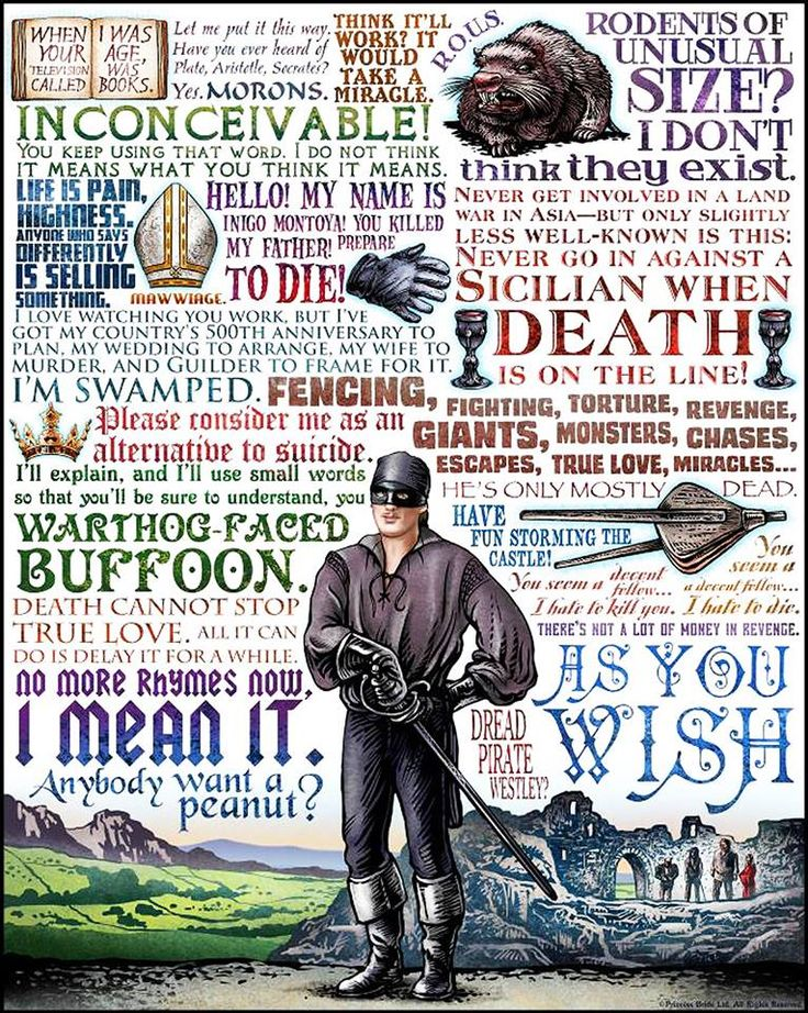 Princess Bride --- one of my all time faves