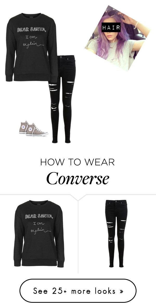 """Untitled #194"" by spacecupcak3 on Polyvore featuring Miss Selfridge, Topshop and Converse"