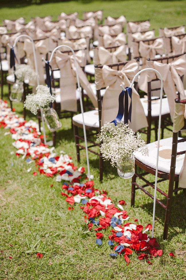 Patriotic red, white and blue wedding - see more at http://fabyoubliss.com/2014/07/03/patriotic-red-white-and-blue-wedding/