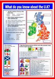 English worksheet: What do you know about the UK?