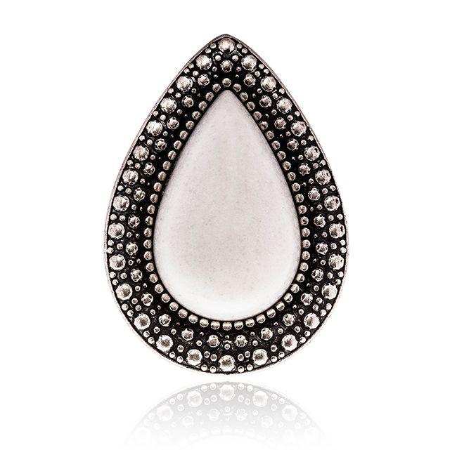 SAMANTHA WILLS - MOCHA EXCLUSIVE BOHEMIAN BARDOT RING - PEARL WHITE