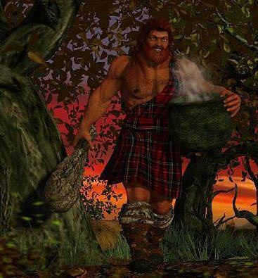 "THE DAGDA (Dagda Mór, Daghda, Dagdae, Daghdha) was perhaps the greatest of the gods, given that his name seems to have meant the ""Good God"". The old Irish tract called ""The Choice of Names"" tells us that he was a god of the earth; he had a cauldron called ""The Undry"", in which everyone found food in proportion to his merits, and from which none went away unsatisfied. He also had a living harp; as he played upon it, the seasons came in their order."