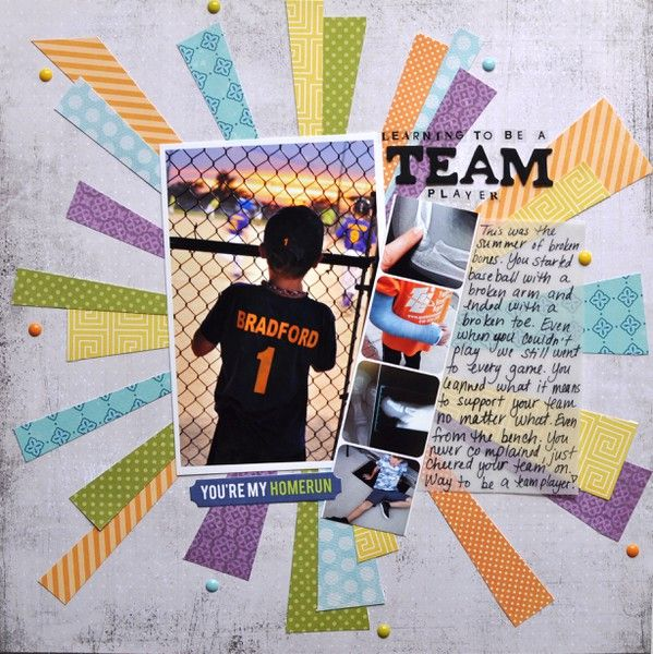 Team Player - Scrapbook Layout @ Two Peas