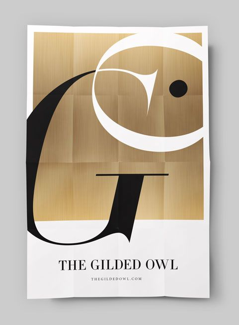 CINNAMON PROJECTS POSTER DESIGN for The Gilded Owl