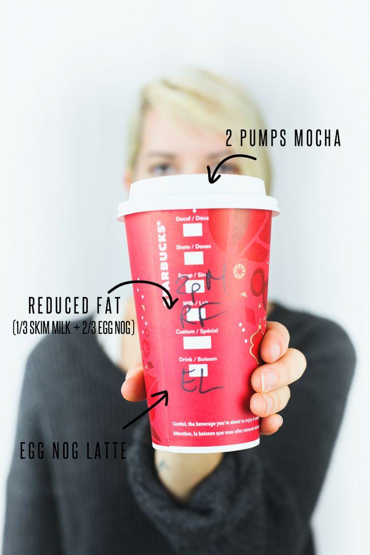 Yummy ways to customize your Starbucks drinks, Egg Nog Latte