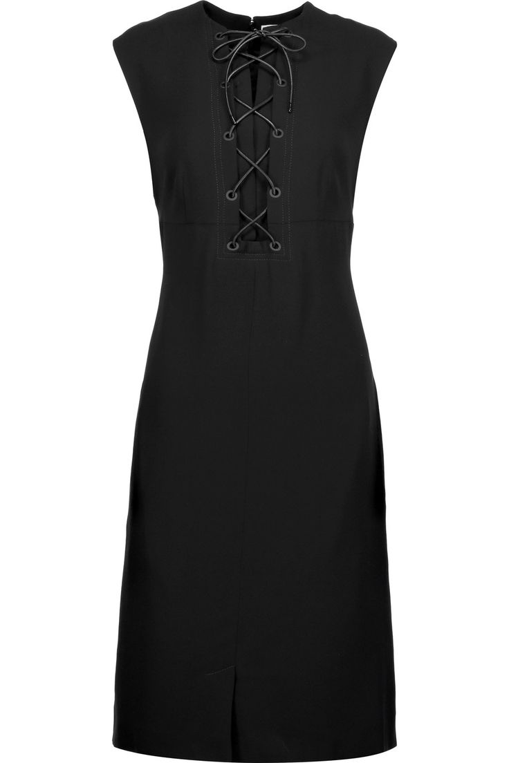 Sonia RykielLace-up crepe mini dress