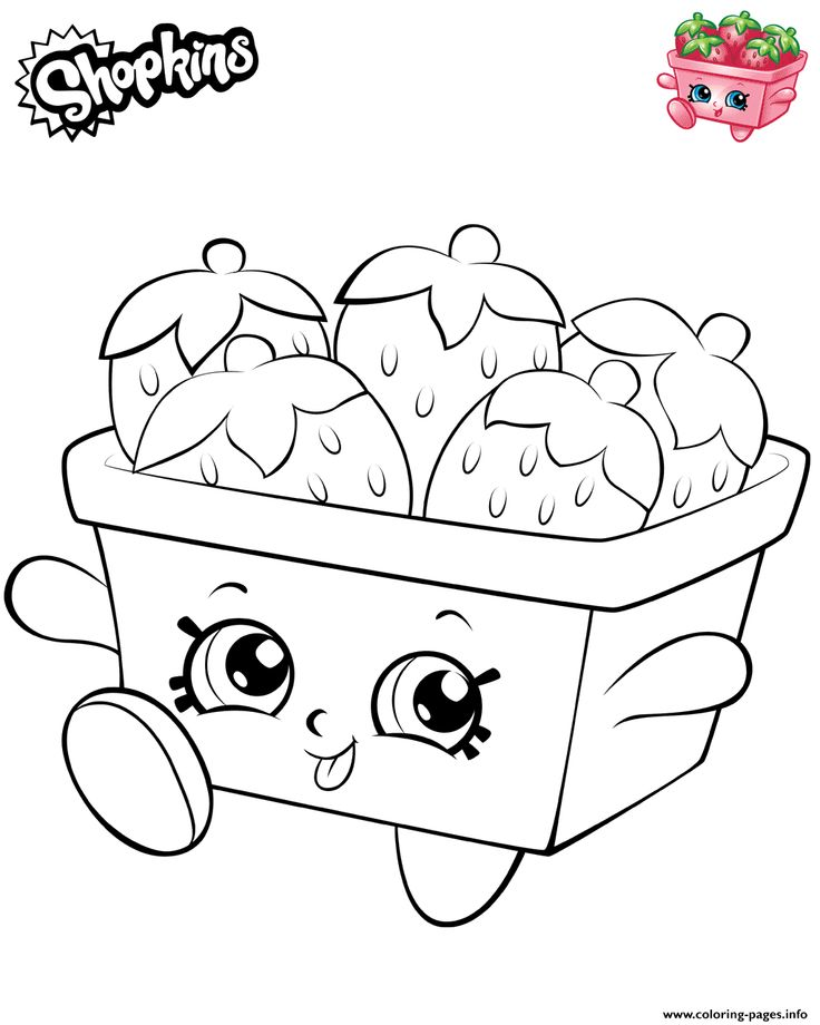 Print Strawberries Shopkins 2019 Coloring Pages Shopkins Colouring Pages Shopkin Coloring Pages Free Kids Coloring Pages