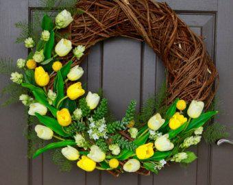 SALE Spring Wreath Everyday Wreath Summer by DeckersWreathShoppe