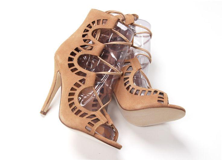 Venda quente Peep Toe sapatinho 2015 Brand Designer Cut outs mulheres botas Lace Up gladiador sandália botas de salto alto sapatos de verão mulher em Botas de Sapatos no AliExpress.com | Alibaba Group