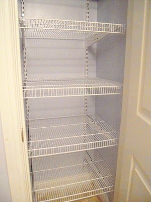 My Cottage Charm: How to install wire shelving...Will try this to create a linen closet.