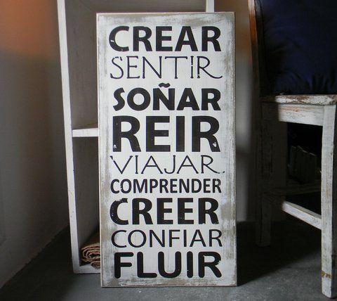 Cartel   CREAR, SENTIR, SOÑAR...