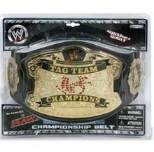 WWE World Tag Team Championship Adjustable Waist Belt Discolored Package