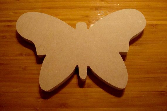 Butterfly Mosaic Base/Unfinished Mdf Wood Craft Shape by zzbob, $5.00