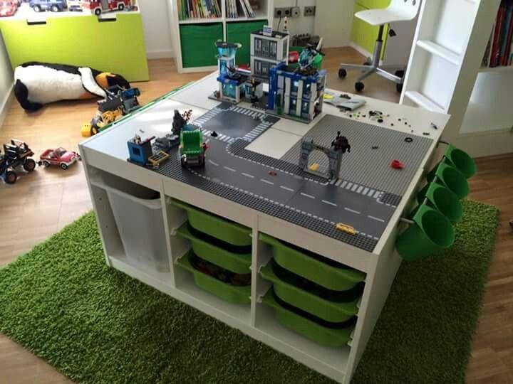 die besten 25 lego tisch ideen auf pinterest lego tisch selbermachen lego jungenzimmer und. Black Bedroom Furniture Sets. Home Design Ideas