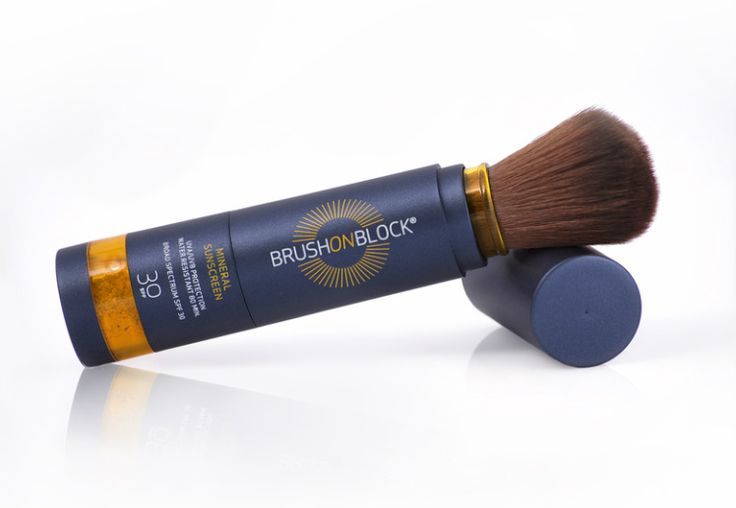 BRUSH ON BLOCK - SPF 30 Mineral Powder Sunscreen.  Brush On Block® contains the naturally-occurring active sunscreen ingredients titanium dioxide and zinc oxide, to provide full-coverage, invisible, natural mineral sun protection that you simply brush on. No more messy, greasy lotions, sticks and sprays. It offers a fast, convenient, and effective way to protect everyone's skin from the sun, everyday.