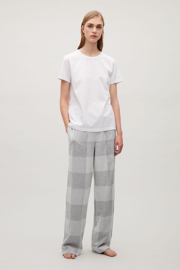 COS | Check flannel pyjama trousers