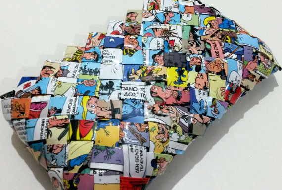 EcoFriendly Handmade Unique Comics PaperBag by ThePaperBags, €23.00