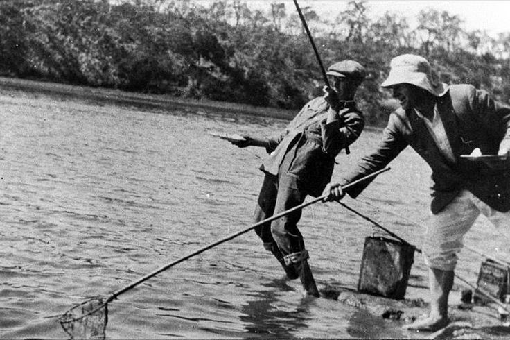 ‪#‎Fishing‬ is as old as time itself. Here we see 2 men back in the 1920's fishing the Glenelg River (about a 20 minute drive from Mount Gambier). It is as popular today as it ever was; give it a go!