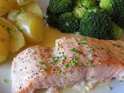 Cathrines matblogg: Laks med Sandefjordsmør.