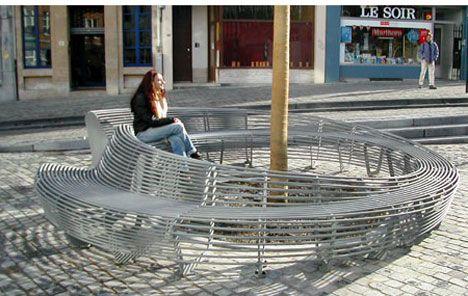 Lucille Souofflet circular bench. Visit the slowottawa.ca boards >> http://www.pinterest.com/slowottawa/