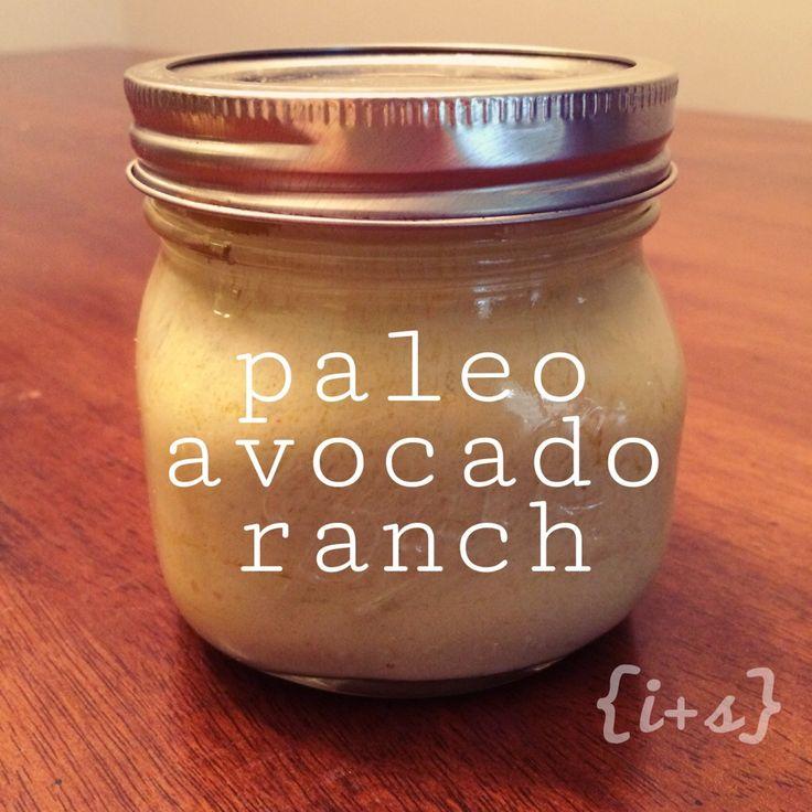 Paleo Avocado Ranch Dressing Recipe #dairyfree #paleo #21dayfix