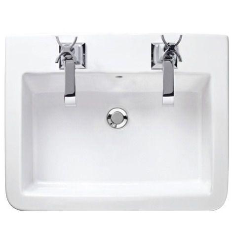 Watermark 600 basin - two tap holes