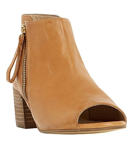 DUNE Joselyn peep-toe leather ankle boots
