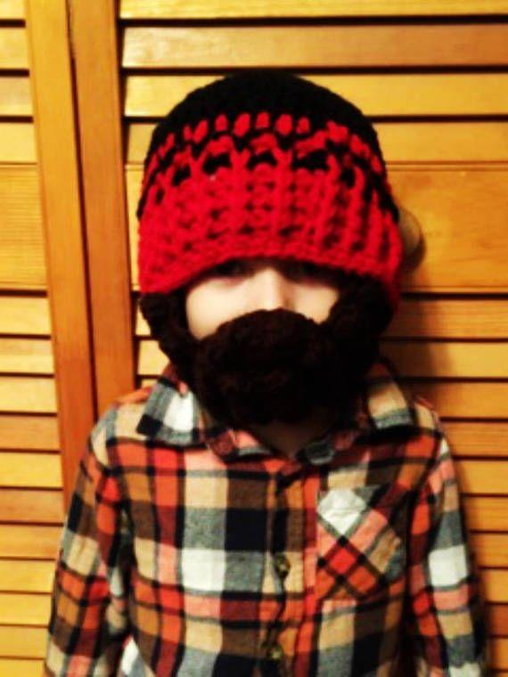 Custom Beard Crochet Hat Bobble beard hat Baby beard hat