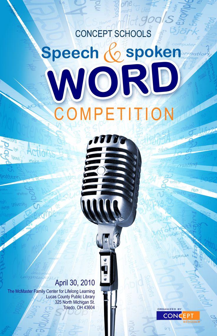 speech contest flyer design