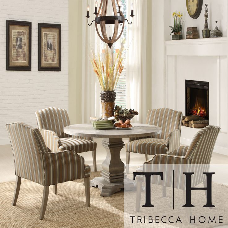 Delightful TRIBECCA HOME Kylie Rustic Birch 5 Piece Traditional Euro Dining Set By  Tribecca Home