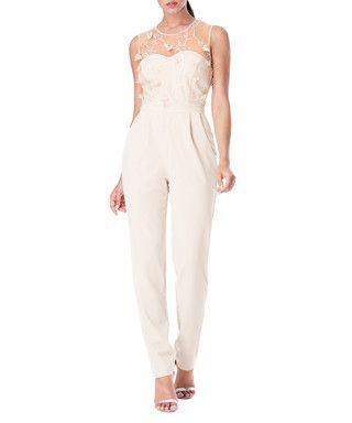Stone floral lace sleeveless jumpsuit Sale - Goddiva Sale