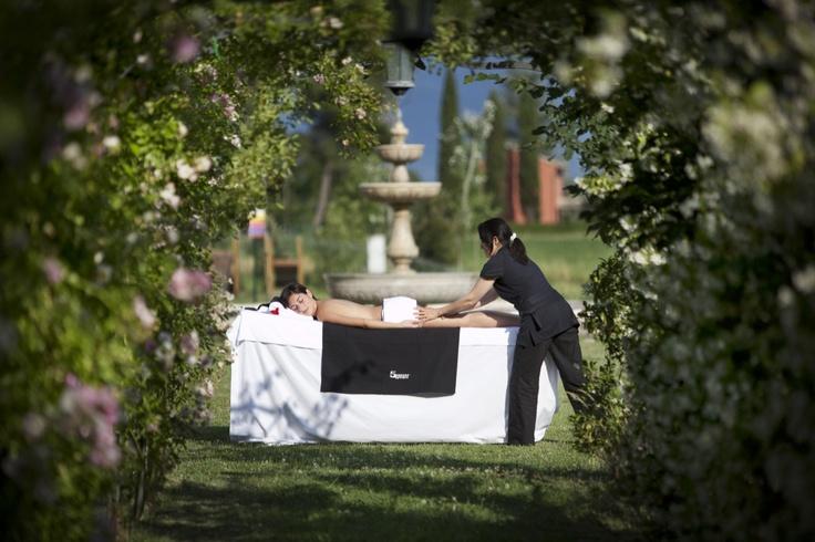 A relaxing outdoor massage...