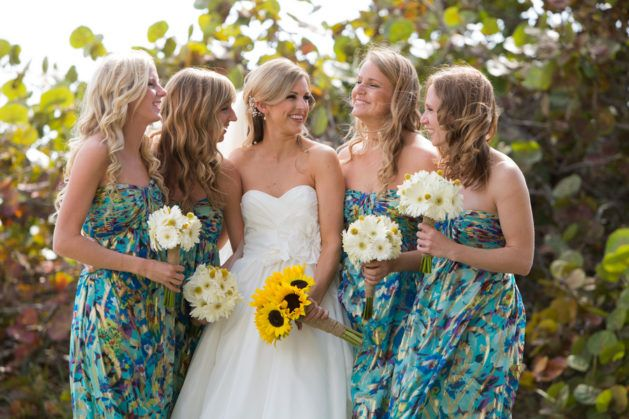 Bridesmaid dresses with pattern