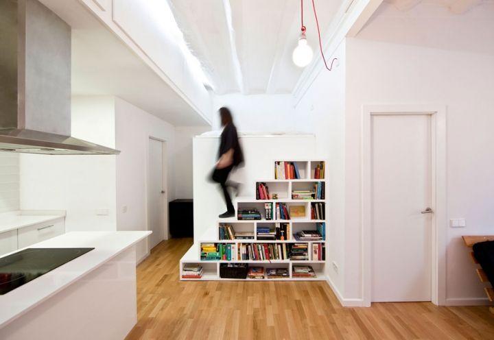 MICRO BUDGET APARTMENT. Raval. Barcelona. Architect Eva Cotman. 40 SQ.M.