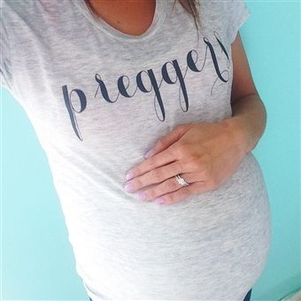 "If I am ever blessed to get pregnant, I am definitely buying this t-shirt ... I had purchased their ""Wifey"" tee when I got married. This is a cute idea!! I"