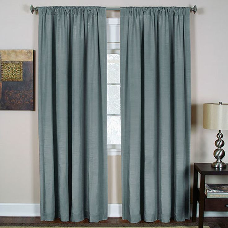 Cachet Room Darkening Curtain Panel Blue Panel Curtains Tab