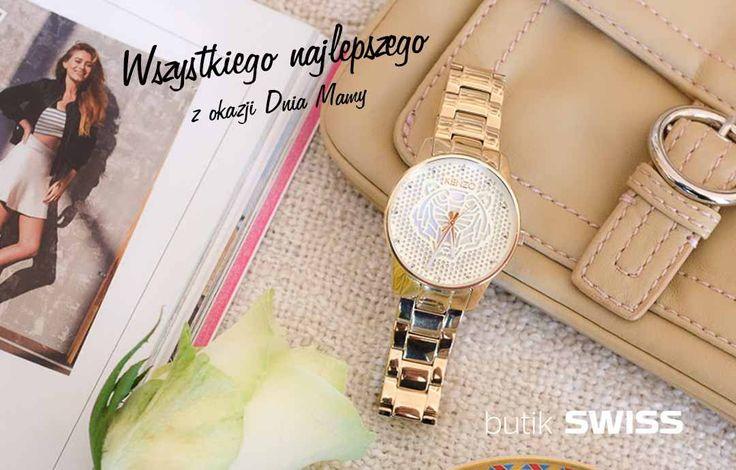 Z okazji Dnia Mamy przy zakupie damskiego zegarka otrzymasz modną bransoletkę w prezencie.Zapraszamy do butiku SWISS PORT ŁÓDŹ.Oferta ważna w dniach 21-26 maja 2016.