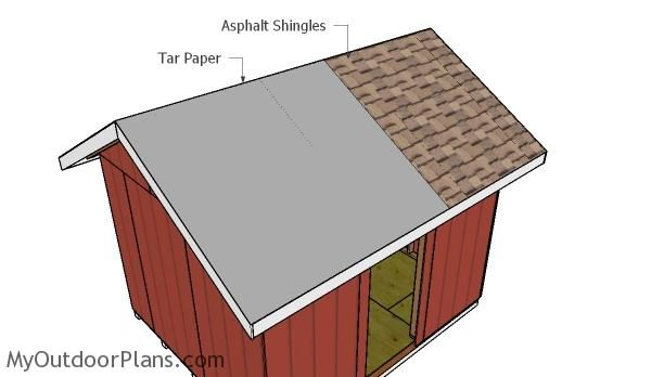 Fitting The Roofing Roof Plan Diy Shed 10x12 Shed