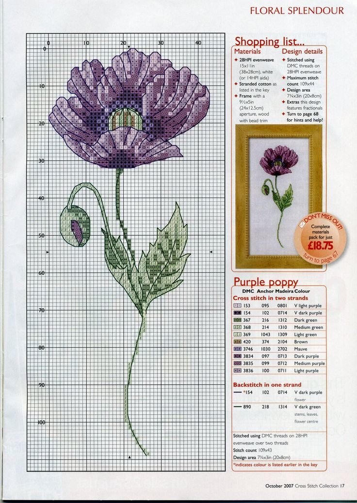 poppy Cross Stitch Collection magazine