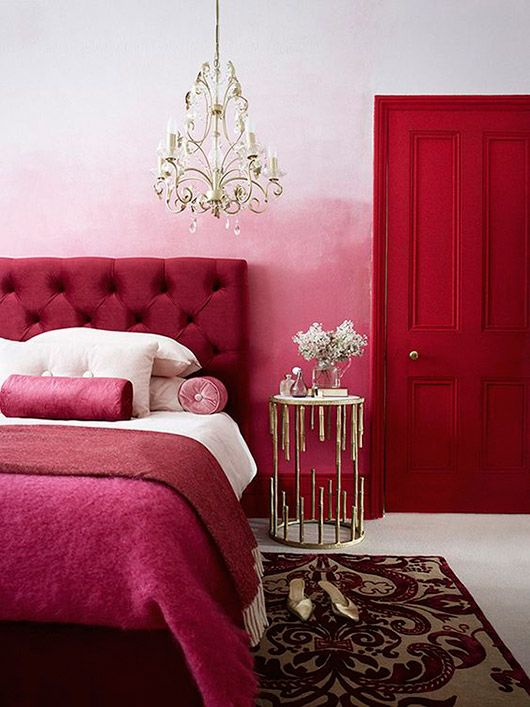 shades of pink bedroom decor and furnishings / sfgirlbybay