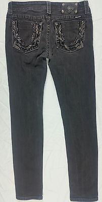 Miss Me Black Faded Skinny Size 28 Embellished Women's Jeans