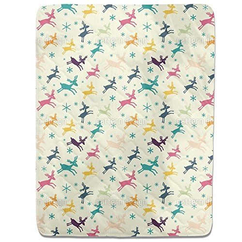 Funny Deer Fitted Sheet King Luxury Microfiber Soft Breathable